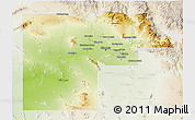 Physical 3D Map of Maricopa County, lighten