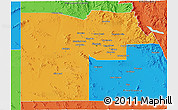 Political 3D Map of Maricopa County