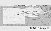 Gray Panoramic Map of Maricopa County