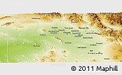 Physical Panoramic Map of Maricopa County