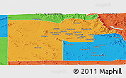 Political Panoramic Map of Maricopa County