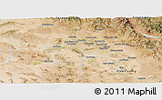 Satellite Panoramic Map of Maricopa County
