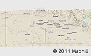 Shaded Relief Panoramic Map of Maricopa County