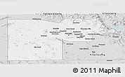 Silver Style Panoramic Map of Maricopa County