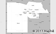 Gray Simple Map of Maricopa County
