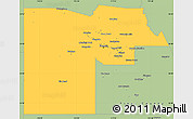 Savanna Style Simple Map of Maricopa County