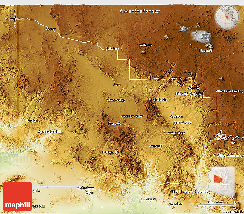 Physical 3D Map of Yavapai County on carroll county map, crenshaw county map, arizona map, greene county map, liberty county map, litchfield county map, new castle county map, pima county map, coconino county map, mohave county map, columbia county map, perry county map, boise county map, grant county map, maricopa county map, pinal county map, sheridan county map, hamilton county map, navajo county map, gila county map,