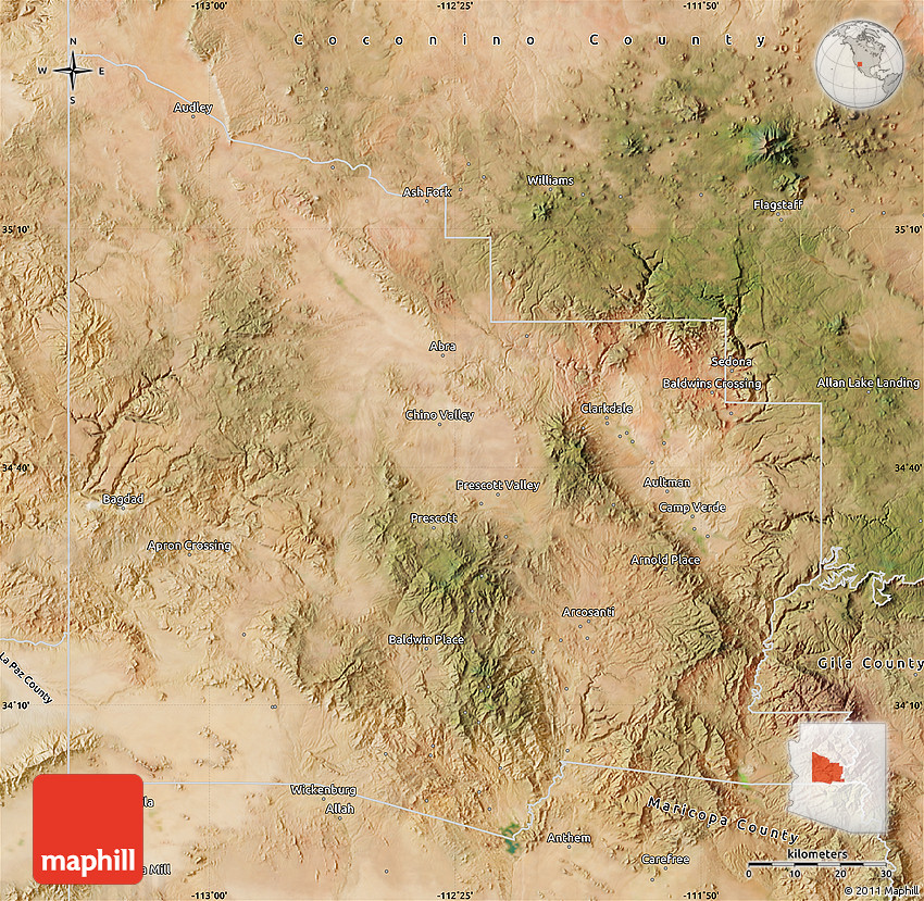 Satellite Map of Yavapai County on carroll county map, crenshaw county map, arizona map, greene county map, liberty county map, litchfield county map, new castle county map, pima county map, coconino county map, mohave county map, columbia county map, perry county map, boise county map, grant county map, maricopa county map, pinal county map, sheridan county map, hamilton county map, navajo county map, gila county map,