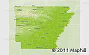 Physical 3D Map Of Arkansas
