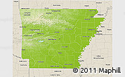 Physical D Map Of Arkansas - Arkansas relief map