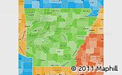 Political Shades Map of Arkansas