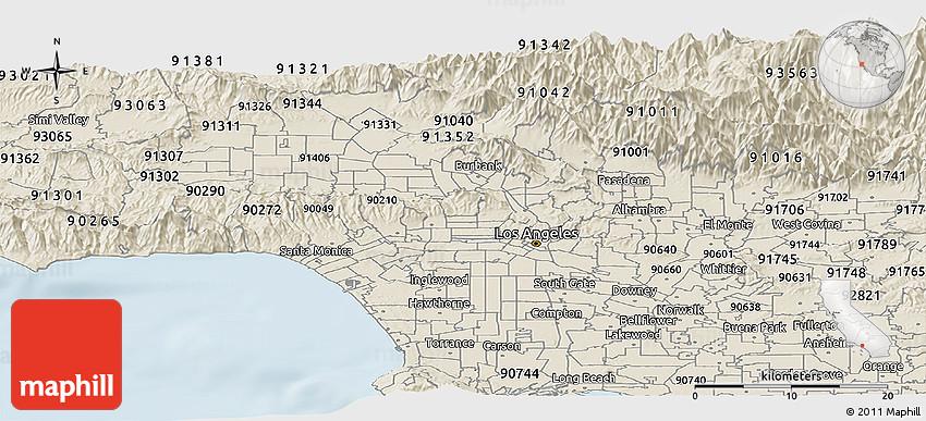 90005 Zip Code Map.Classic Style Panoramic Map Of Zip Code 90005