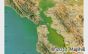 Satellite Map of ZIP code 94102