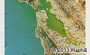 Satellite Map of ZIP code 94128