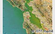 Satellite Map of ZIP code 94134