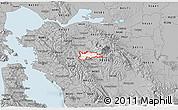 Gray 3D Map of ZIP code 94507