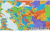 Political 3D Map of ZIP code 94507