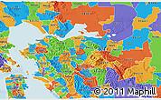 Political 3D Map of ZIP code 94518