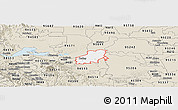 Classic Style Panoramic Map of ZIP code 94561