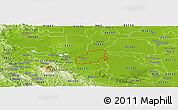Physical Panoramic Map of ZIP code 94561
