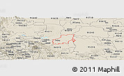 Shaded Relief Panoramic Map of ZIP code 94561