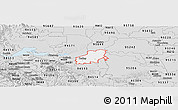 Silver Style Panoramic Map of ZIP code 94561