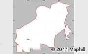 Gray Simple Map of ZIP code 94561