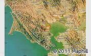 Satellite Map of ZIP code 94949