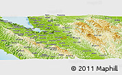 Physical Panoramic Map of ZIP Code 95116 on map of orange county ca, map of downtown san clemente, map of san clemente california,