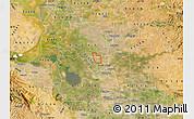 Satellite Map of ZIP code 95209