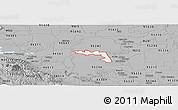 Gray Panoramic Map of ZIP code 95219