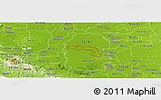 Physical Panoramic Map of ZIP code 95219