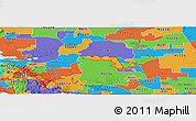 Political Panoramic Map of ZIP code 95219