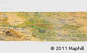 Satellite Panoramic Map of ZIP code 95219