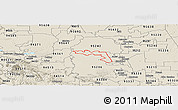 Shaded Relief Panoramic Map of ZIP code 95219