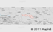Silver Style Panoramic Map of ZIP code 95219