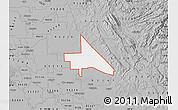 Gray Map of ZIP code 95230
