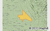 Savanna Style Map of ZIP code 95230