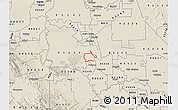 Shaded Relief Map of ZIP code 95231