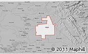 Gray 3D Map of ZIP code 95236