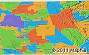 Political 3D Map of ZIP code 95236