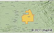 Savanna Style 3D Map of ZIP code 95236
