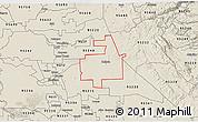 Shaded Relief 3D Map of ZIP code 95236