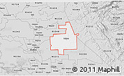 Silver Style 3D Map of ZIP code 95236