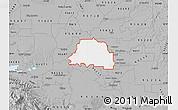 Gray Map of ZIP code 95242