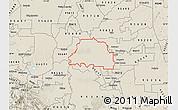 Shaded Relief Map of ZIP code 95242