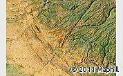 Satellite Map of ZIP code 95247
