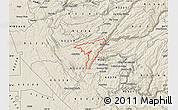 Shaded Relief Map of ZIP code 95247