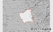Gray Map of ZIP code 95252