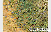Satellite Map of ZIP code 95257